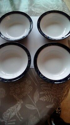 2 x BAROQUE CEREAL / DESSERT BOWLS 18CMS GOOD USED CONDITION.