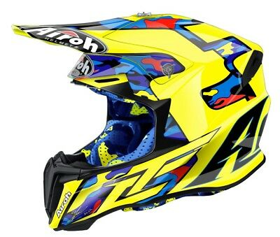 Airoh Twist Tc16 Motocross Helmet Acu Gold Stamp Fitted