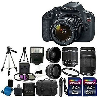 Canon EOS Rebel T5 / EOS 1200D 18.0MP Digital SLR Camera - Black (Kit w/ EF-S...