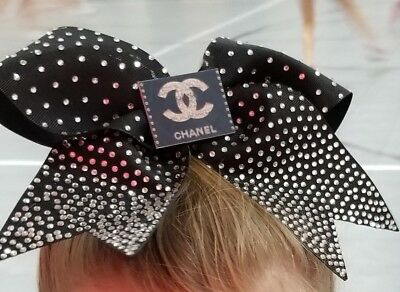 Black Rhinestone Cheer Bow