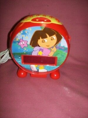 Dora The Explorer Alarm Clock Radio WORKS!!!