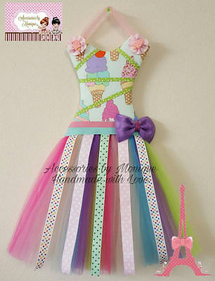 JOJO SIWA INSPIRED TUTU DRESS HAIR BOW HOLDER Hanging Hair Bow Rainbow Organizer