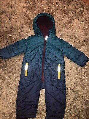 Baby Boys Ted Baker Snow Suit Padded Quilted 9-12 Months