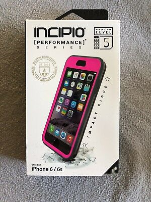 Incipio Performance Level 5 Holster Phone Case for Apple iPhone 6/6S - Pink/Gray