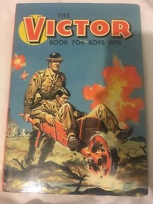 THE VICTOR BOOK FOR BOYS Annual 1974 vintage