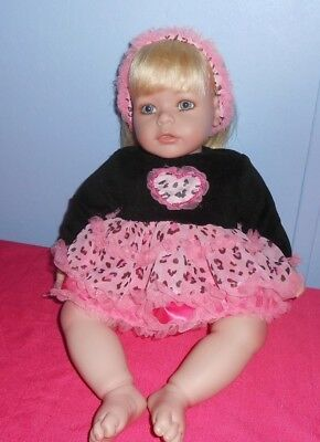 "Charisma 20"" Adora Toddler Weighted Doll Blonde/blue Eyes/lashes"