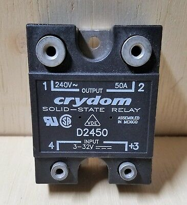New From Manufacturer Crydom D2450 Solid-State Relay 3-32V