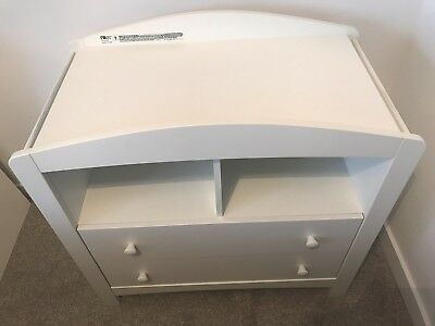MOTHERCARE White Baby Changing Unit