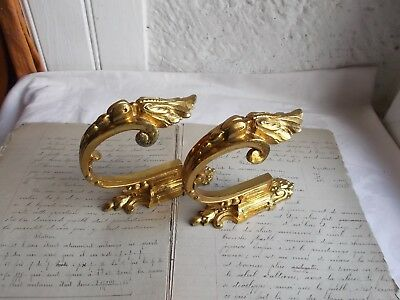 French 19th century antique a pair of curtain tiebacks ornately bronze classic