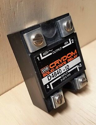 New Crydom Solid State Relay D4840-10 -40A, 280/480Vac, 3-32Vdc  Control