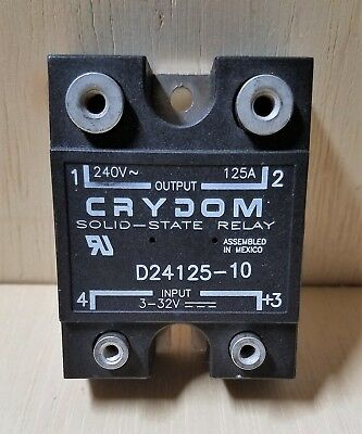 CRYDOMD24125, 125A ,240Vac, 3-32DC Control voltage, solid state relay