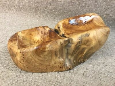 Natural Wood Hand Carved Root Of The Earth Burl Wood Wine Holder