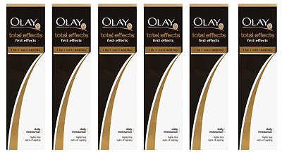 Olay Total Effects 7 in 1 First Effects Daily Moisturiser 50ml (6 Pack)