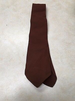 Vintage Boy Scout / Explorer Brown Necktie