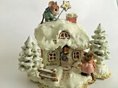 Wee Forest Folk WFF M-311c A Cottage for All Seasons Christmas signed w/Box EUC!