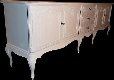 Riesiges Chippendale Sideboard shabby shic vintage weiß