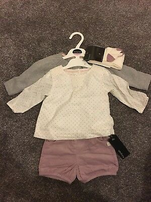 Marks And Spencer's Baby Girls 4 Piece Outfit 3-6 Months