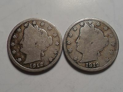 1912-Pd  Nice Liberty Nickel Set!!!