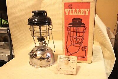 Vintage Tilley Storm Light X246B Boxed Chrome/Silver 1972