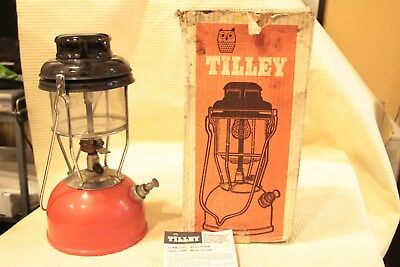 Vintage Tilley Storm Light X246B Boxed Red working