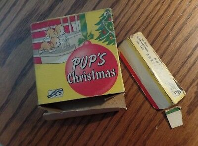 """16mm film BOX ONLY """"Pup's Christmas"""" Pictoreel 1936 cartoon"""