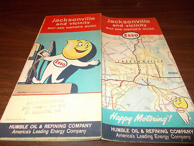 1961/62 Esso Jacksonville and Vicinity Vintage Road Map