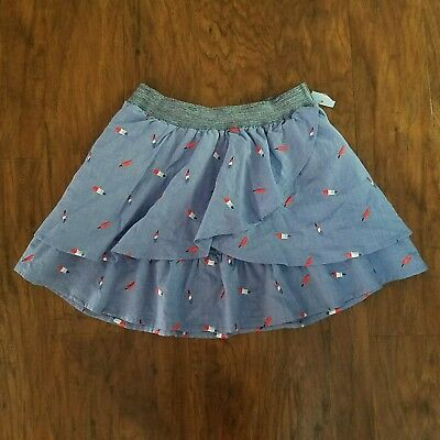 Cat & Jack girls multi colored popsicle print skirt size L(10/12) NWOT