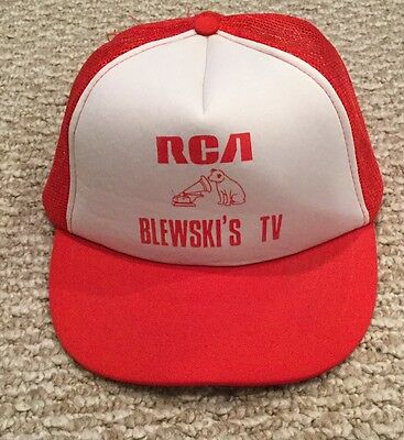 Vintage Mesh Trucker RCA Blewski's TV Advertising Hat
