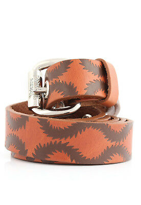 Vivienne Westwood Squiggle Belt Brown Pirate Leather BNWT Boxed RRP £120 Unisex