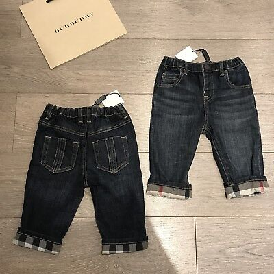 BNWT Baby Boys 6m BURBERRY Blue & check jeans bottoms & Lots More100% Genuine