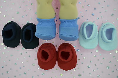 """Play n Wear Doll Clothes For 16"""" Cabbage Patch 4x BOOTIES~BLUE~NAVY~RED~CHAMBRAY"""