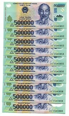10 MILLION VIETNAM DONG = 20 x 500,000  CURRENCY *2017 BANKNOTE JUST ISSUE  UNC