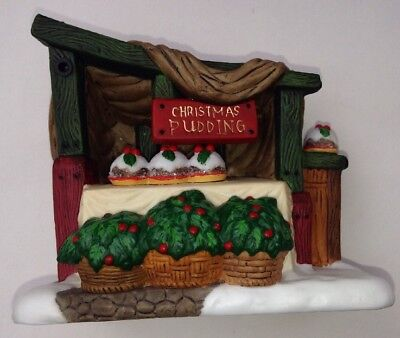 """Dept 56 REPLACEMENT PIECE Christmas Pudding STAND 4"""" X 3"""" FREE SHIPPING"""