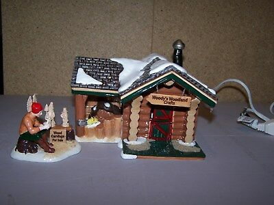 "DEPT. 56 ""SNOW VILLAGE"".....woodys woodland crafts and nicks tree farm"