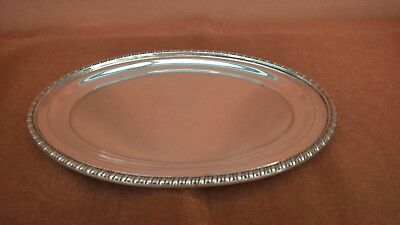 Viners Of Sheffield Alpha Plate Small Oval Tray