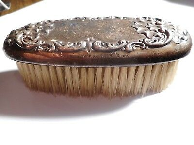 Antique Art Nouveau 1893 Sterling Silver Repousse  Brush /hallmerked-Signed