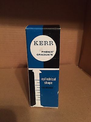 New! KERR Phenix Graduate Cylindrical Shape 120 Minims Measuring Glass 527906