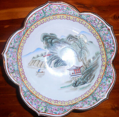 """Japanese Porcelain Ware Handpainted 8.5"""" Bowl Beautiful Condition"""