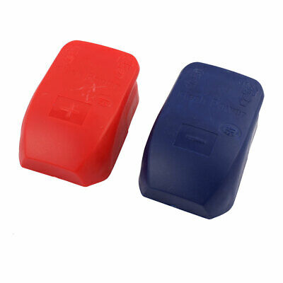 2Pcs Battery Terminals Quick Release Disconnect Connectors Pull-up (Red & Blue)