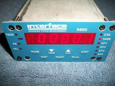 Interface 9860 High Speed Strain Gauge Display Indicator (without Load Cell)