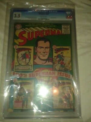 Superman # 100 Anniversary Issue Cgc 3.5 Off White Pages,no Reserve!!!!!!!!!!!