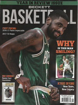 January 2018 Basketball Beckett Monthly Price Guide Vol 29 No 01 Kyrie Irving