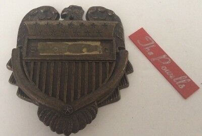 Vintage 1967 Personally Yours Bronze Stars Stripes Eagle Door Knocker