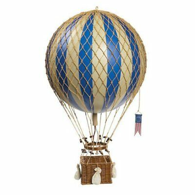 Blue Royal Aero - Hot Air Balloon Model - Features Hand-Knotted Netting and Ratt