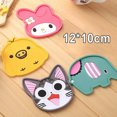 1x Cute Cartoon Silicone Heat Insulation Coffee Tea Cup Mug Mat Pad Coaster Top