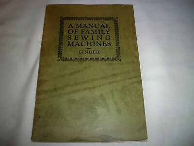 VINTAGE SINGER  SEWING MACHINE MANUAL For Students in Schools and Collage 1929