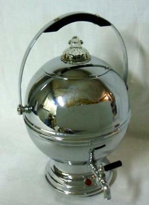 Art Deco Chrome Bakelite Ball Coffee Pot Maker Percolator