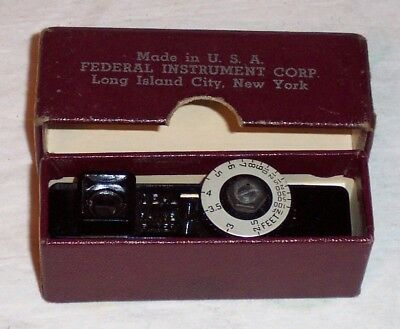 Vintage Ideal Range Finder With Box & Instructions - Federal Instrument Co - Vgc