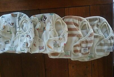 10 organic Imsevimse nappy covers, 2 all in one nappies, modern cloth nappies