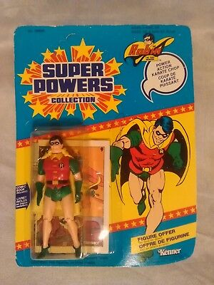 1984 Vintage Dc Super Powers Robin Foreign 12 Back Version! Factory Sealed Rare!